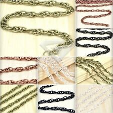 2/4m 6.56/13.12 feet Unfinished Chains Woven Curb Chain Necklace Jewelry Making
