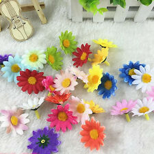 10pcs Simulation Sunflowers Cotton Flower Heads DIY Toys Plastic Crafts Gifts