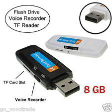 USB Digital Pen Audio Voice Recorder with Mic Dictaphone 8GB Flash Drive U-Disk