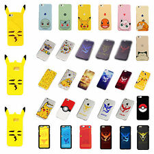 Cute Pokemon Pikachu Soft Silicone/Hard Phone Back Case Cover For iPhone Sumsung