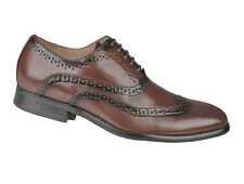 Boys New Brown Brogue Leather Lined Lace Up Smart Shoes Smart Suit Wedding