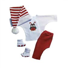 Christmas Owl Unisex Baby Clothing Outfit 4 Preemie and Newborn Infant Sizes!