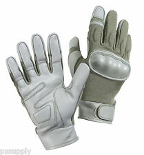hard knuckle gloves cut flame and heat resistant  foliage green rothco 3464