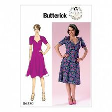 Butterick Ladies Sewing Pattern 6380 Sweeheart Neckline Dress with Gathered B...