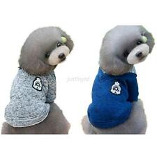 Pet Dog Gray/Blue Fleece Sweater  Hoodie Jacket Coat Shirt Puppy Clothes Costume