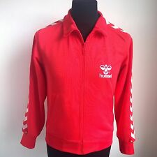 RED TRACK TOP HUMMEL FOOTBALL SHIRT JERSEY SIZE ADULT S