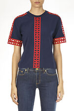Tory Burch Sweater Pullover -20% GABRIELLE Woman Blues 30163GABRIELLE403-RED