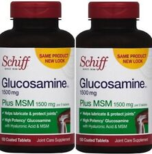 2pk Schiff Glucosamine Plus MSM 1500mg per 3 tablets, 150 coated Tablets