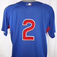 NEW Mens MAJESTIC Cool Base Chicago CUBS #2 Blue Warm Up Baseball Jersey