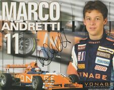 2005 Marco Andretti signed Vonage Indy Lights postcard