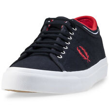 Fred Perry Kendrick Tipped Cuff Mens Trainers Navy Red New Shoes