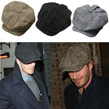 Classic Newsboy Cabbie Gatsby Hat Flat Ivy Cap Golf Tweed Wool Driving Beret Hat