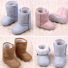 New Infant Baby Winter Warm Snow Boots Soft Shoes Sole Anti-slip Crib Prewalkers