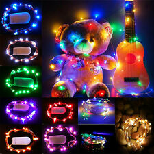 10-40 LED Christmas Wedding Party Copper Wire Garden String Fairy Lights