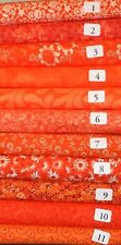 "10 Honey Bun Quilting Fabric Strips 1.5""x WOFCotton Sewing Orange U Pick Design"