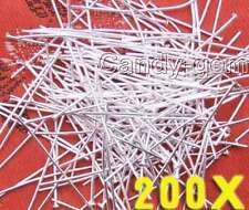 SALE Wholesale 200 pcs Silver Plated Head 35mm long Pins-GP116