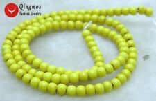 """SALE Tiny 4-4.5mm Yellow Round TURQUOISE loose beads strand 15""""-los615"""