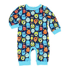 Monsters Inc Baby Boys Coverall Romper 5PR2917 Sully Mike Wazowski