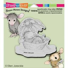 New Stampendous RUBBER STAMP cling House Mouse DAISY FLOAT free usa ship
