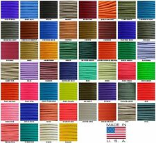 550 Paracord Parachute Cord Solid Colors 1000ft Spools USA Made