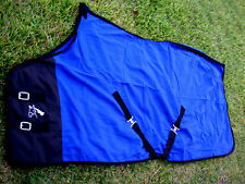 Horse Sheet Polar FLEECE COOLER Blanket Blue 4323