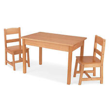 New KidKraft Rectangle Table and 2-Chair Set - Natural Model:13020374