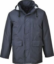 Portwest Corporate Rain Wind Traffic Waterproof Hooded Jacket Coat Mack S437