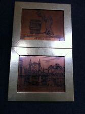 Two copper-effect prints from Burton-on-Trent  in matching frames ##BUR54JM