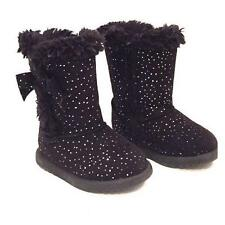 JB JUMPING BEANS FANCY Girl's Toddler's Black Zipper Fur Fashion Boots Shoes New