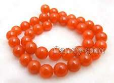 SALE 10mm China Red Round jade Loose Beads strand 15'' for jewelry making-los690