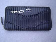 AUTHENTIC COACH GRAY GATHERED LEATHER  ZIP AROUND WALLET VGC