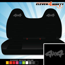 92-08 Ford F150-750 Black Front Bench Seat Covers 4x4 Logo. Choose Logo color