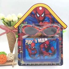 Lot Spider-man Cartoon Glasses and Purses Wallets Set Kids' birthday Gifts L195