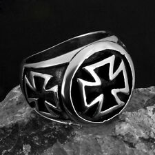 COOL 316L Stainless Steel Fashion Mens Jewelry Cross Ring