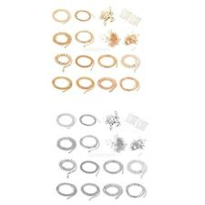 Jewelry Making Findings STARTER KIT Mix Chains Clasps Snap Rings Extender Chain