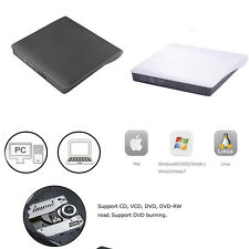 USB 3.0 External DVD CD RW ROM Read Writer Burner Drive Play For Laptops PC New