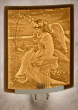 Tender Love - Fine Porcelain CURVED Lithophane Night Light 199 - Made in USA