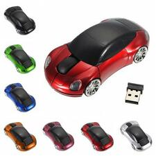 Cute 2.4G 1600DPI Car Shape Mouse USB Receiver Wireless Light LED Optical Mice