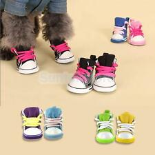Pet Sporty Shoes Boots Denim Shoelaces Booties Sneaker For Dog Doggy Size XS-XL