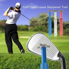 Golf Club Groove Sharpener Tool W/6 Cutter Heads Golf Grooving Cleaning A1P7
