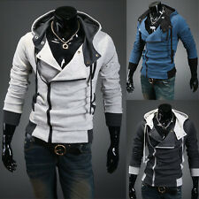 Mens Slim Fit Tops Sweats Hoodies Jackets Sports Hooded Coats 4 Colors 5 Sizes