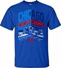 Chicago Cubs World Champions 2016  Blue T- Shirt  - Adult Sizes Brand New