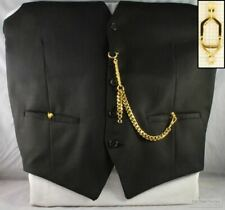 Albert pocket watch chain w/ open-style belt clip; various finish options