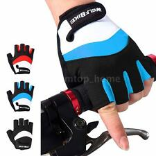 Half Finger Racing Motorcycle Gloves Cycling Bicycle Bike Riding Gloves A1B5