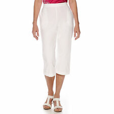 Alfred Dunner White Tropical Punch Capris Petite Size 16P, 16 Msrp $48.00 New