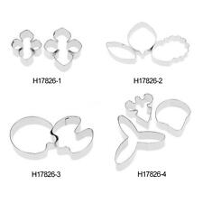 3pcs Stainless Flower Petals Cutter Mold Sugarcraft Fondant Cake Decor Tool H1P9