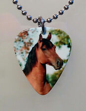 Guitar Pick HORSE Necklace Jewelry Pony Equine Ball Chain