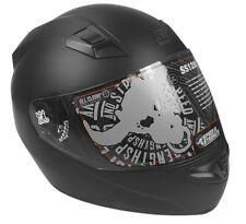 New Full Face Flat Black Speed & Strength SS1200 Helmet Dot and ECE Approved