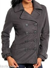 Dark Taupe Double Button Front Jacket/Peacoat/Coat S/M/L