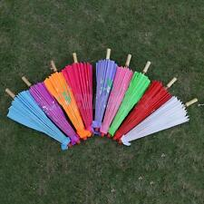 Vintage Handmade Parasol Chinese Cloth Floral Umbrella Wedding Dance Props